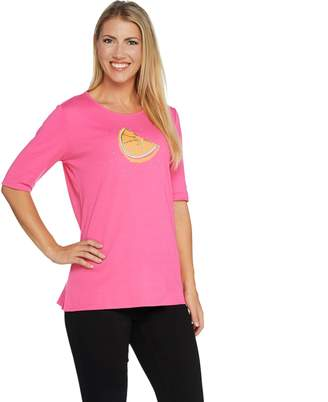 Factory Quacker Fruit Fun Sequin Elbow Sleeve Knit T-shirt