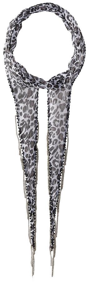 Chan LuuChan Luu Leopard Print Skinny Scarf