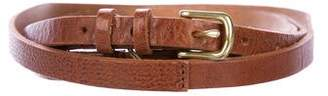 Rag & Bone Skinny Leather Wrap Belt w/ Tags