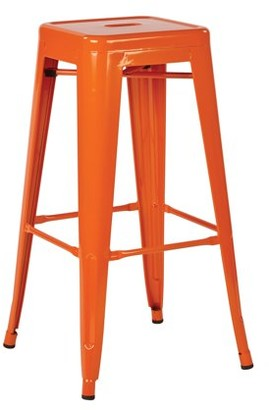 Office Star OSP Designs by Products Patterson 30 in. Steel Backless Barstool