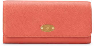 Mulberry Coral Rose Plaque Flap Wallet