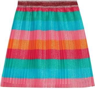 Gucci Kids striped layered glittery skirt
