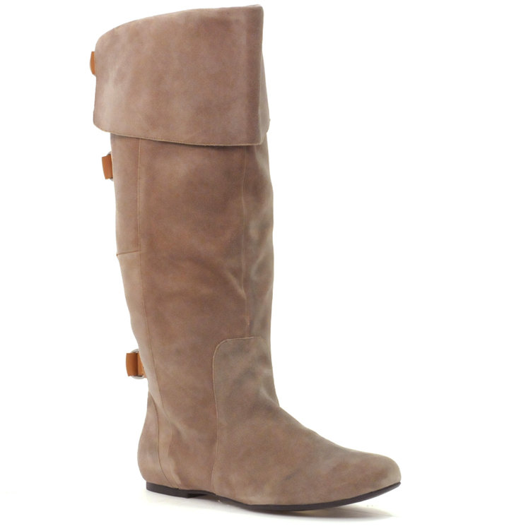 DV By Dolce Vita Brody Suede Flat Buckle Detail Boot