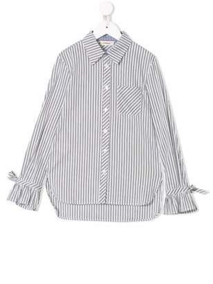 Pinko Kids striped fitted shirt