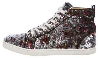 Christian Louboutin Sequin High-Top Sneakers