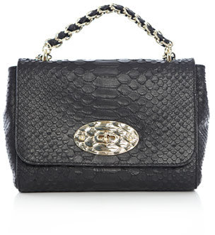 Mulberry Lily silky snake-print bag