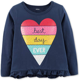 Carter's Toddler Girls Heart Graphic Top
