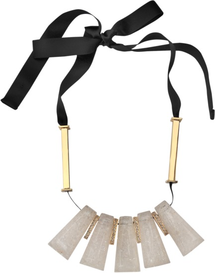 Marni Strass resin and brass necklace