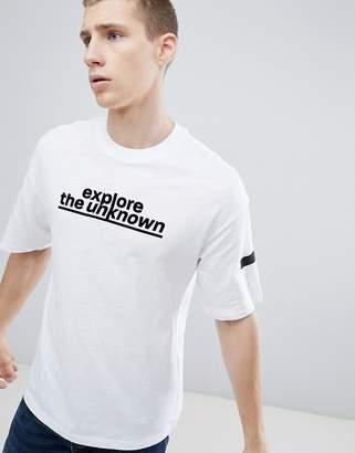 Jack and Jones Core Drop Shoulder T-Shirt With Slogan