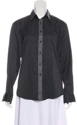 Dolce & Gabbana Striped Long Sleeve Button-Up