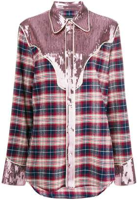 DSQUARED2 sequinned lumberjack shirt