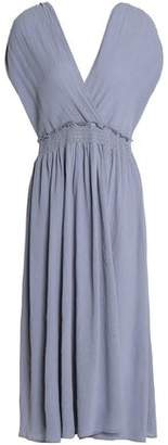 Kain Label Wrap-Effect Ruched Cotton Midi Dress
