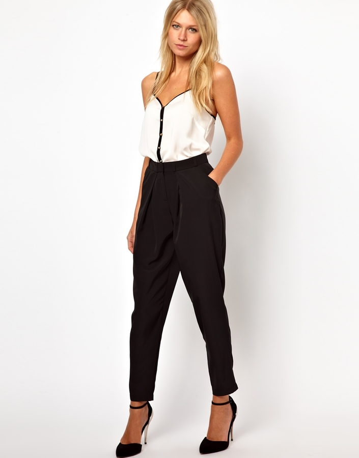 Asos Peg Trousers with Soft Pleats