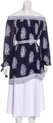 Faithfull The Brand Off-The-Shoulder Printed Tunic