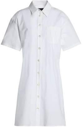 Moschino Stretch Cotton-poplin Shirt Dress
