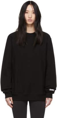 Reebok x Victoria Beckham ブラック コットン スウェットシャツ