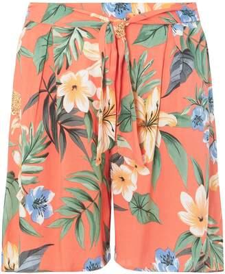 Dorothy Perkins Womens **Tall Coral Tropical Print Shorts