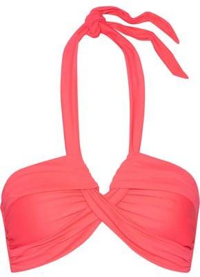 Goddess Ruched Halterneck Bikini Top