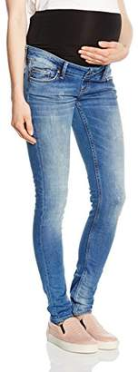 Queen Mum Women's Denim Slim Fit Relaxed Jeans,(Manufacturer Size:31)