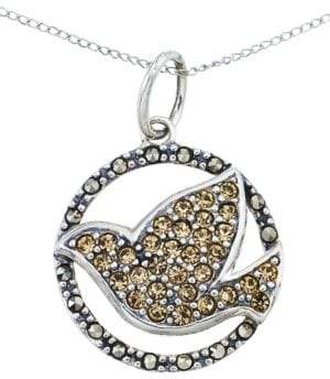 Lord & Taylor Crystal Bird Pendant Necklace