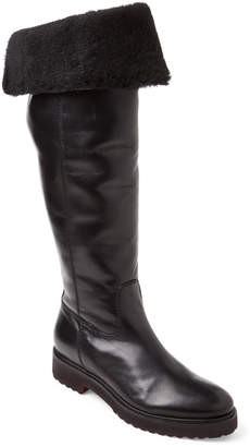 Elena Black Lined Leather Riding Boots