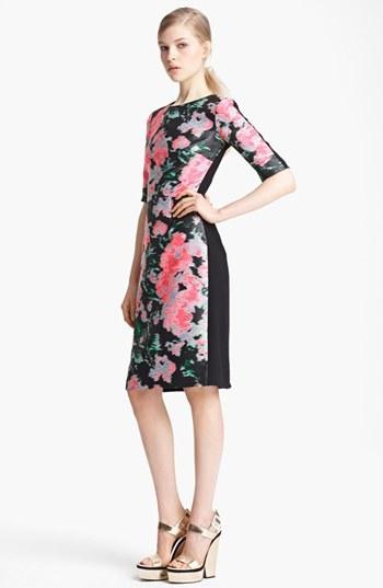 Erdem 'Ivy' Floral Jacquard & Crepe Dress