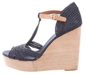Tory Burch Platform T-Strap Wedges