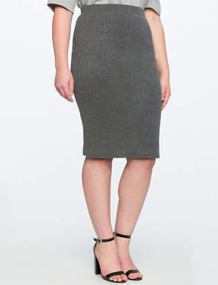 ELOQUII Rib Knit Pencil Skirt