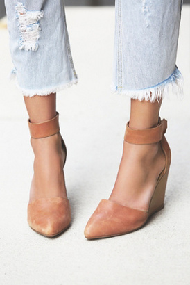 Jeffrey Campbell Womens PEAKS POINT WEDGE $138 thestylecure.com
