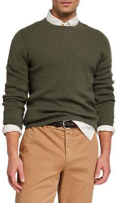 Brunello Cucinelli Men's Cashmere English Rib-Knit Sweater