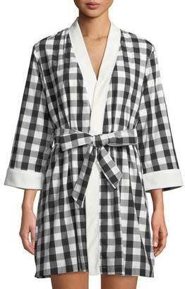 Kate Spade Summer Check Short Robe