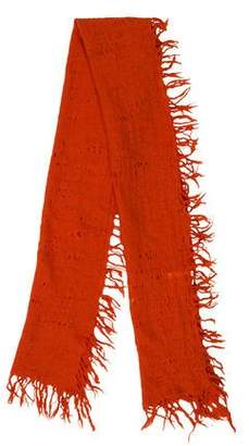 Issey Miyake Wool Fringe Scarf