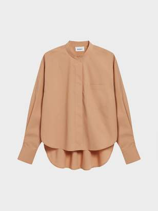 DKNY Pure Cropped Step Hem Shirt Brown S