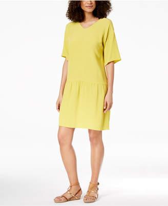 Eileen Fisher Tencel® Crepe Drop-Waist Dress