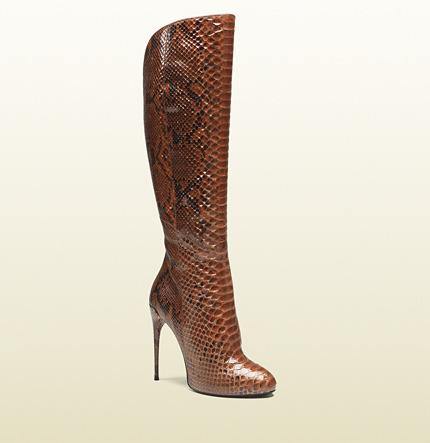 Gucci Kim Python Knee Boot