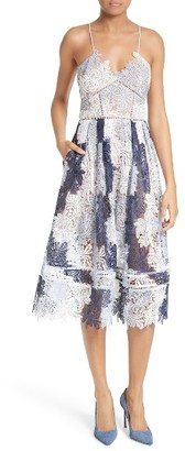 Women's Self-Portrait Camellias Lace Fit & Flare Dress $525 thestylecure.com