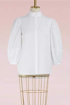 Alexander McQueen Cotton Puff-Sleeve Shirt