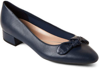 ce6d2c2dde15 Easy Spirit Navy Calasee Bow Low Heel Shoes
