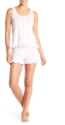 Couture PJ Lace Trim Tank & Shorts Pajama Set