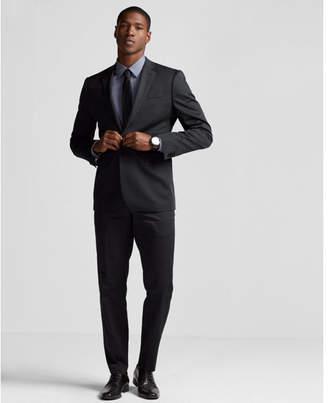 Express slim black cotton sateen suit pant