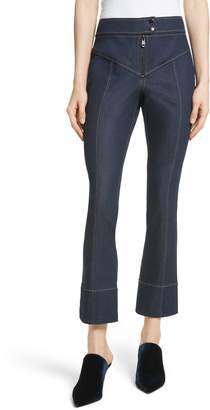 Cinq à Sept Kirim Exposed Zip Jeans