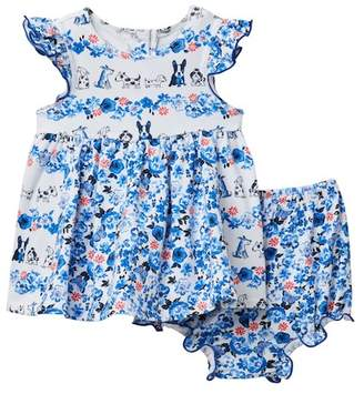 Pippa & Julie Puppies Value Dress & Bloomers Set (Baby Girls 0-9M)
