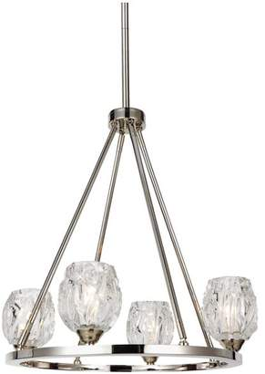 Feiss Rubin 4-Light Chandelier, Polished Nickel