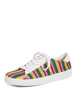 Alice + Olivia Cassidy Striped Embellished Sneakers