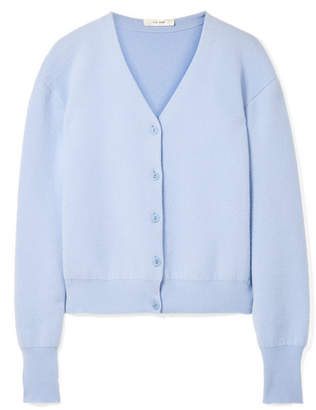 The Row Nesta Merino Wool And Cashmere-blend Cardigan - Blue