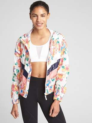 Gap GapFit Lightweight Print and Stripe Windbreaker