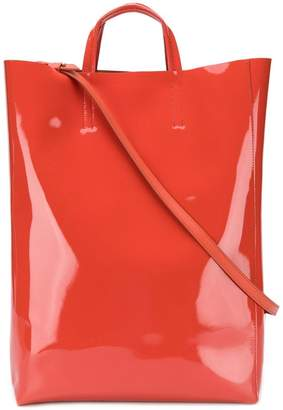 Acne Studios Baker patent large shopper tote bag