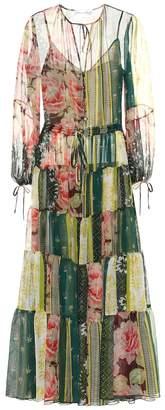 Oscar de la Renta Printed silk chiffon dress