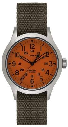 Timex R) ARCHIVE R) Scout Reversible Canvas Strap Watch, 40mm