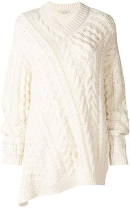 Stella McCartney cable-knit oversized sweater